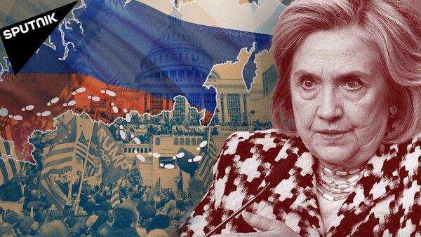 Hillari Klinton Trampni Putin bilan aloqasi borlikda aybladi. Nega? - Sputnik Oʻzbekiston