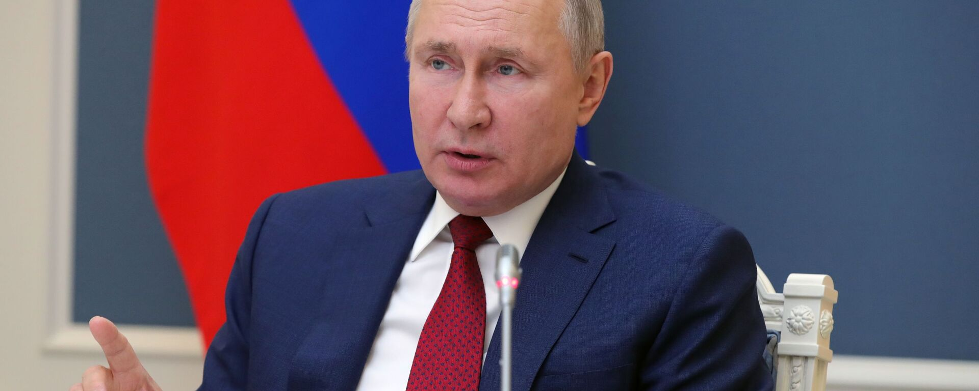 Президент РФ В. Путин выступил на сессии онлайн-форума Давосская повестка дня 2021 - Sputnik Ўзбекистон, 1920, 13.05.2021