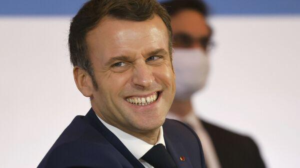 Президент Франции Эммануэль Макрон - Sputnik Ўзбекистон