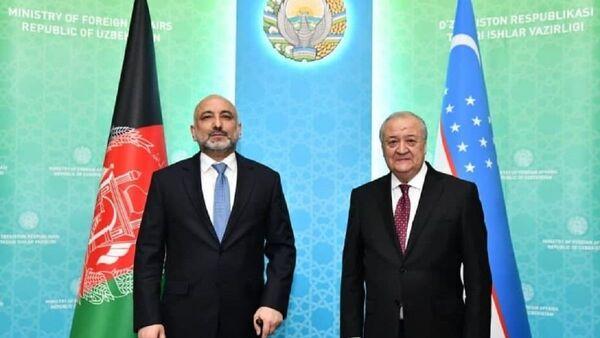 Абдулазиз Камилов провел встречу с министром иностранных дел Афганистана Ханифом Атмаром - Sputnik Ўзбекистон