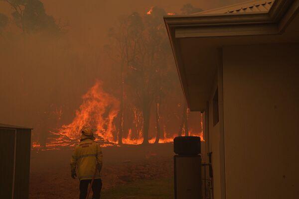 Работа австралийских пожарных. - Sputnik Узбекистан