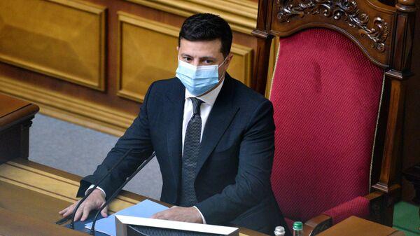 Prezident Ukrainы Vladimir Zelenskiy - Sputnik Oʻzbekiston