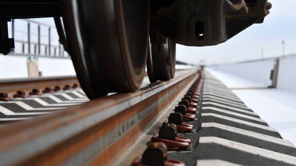 Укладка железнодорожного полотна - Sputnik Узбекистан