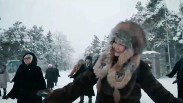 Видео с танцами якутянок в минус 45 взорвало Сеть - Sputnik Ўзбекистон