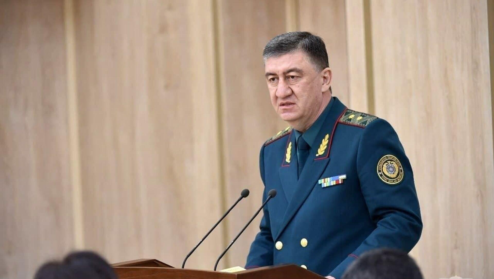 Shavkat Mirziyoyev 12 fevralya prinyal uchastiye v rasshirennom zasedanii kollegii Ministerstva vnutrennix del Respubliki Uzbekistan - Sputnik Oʻzbekiston, 1920, 12.02.2021
