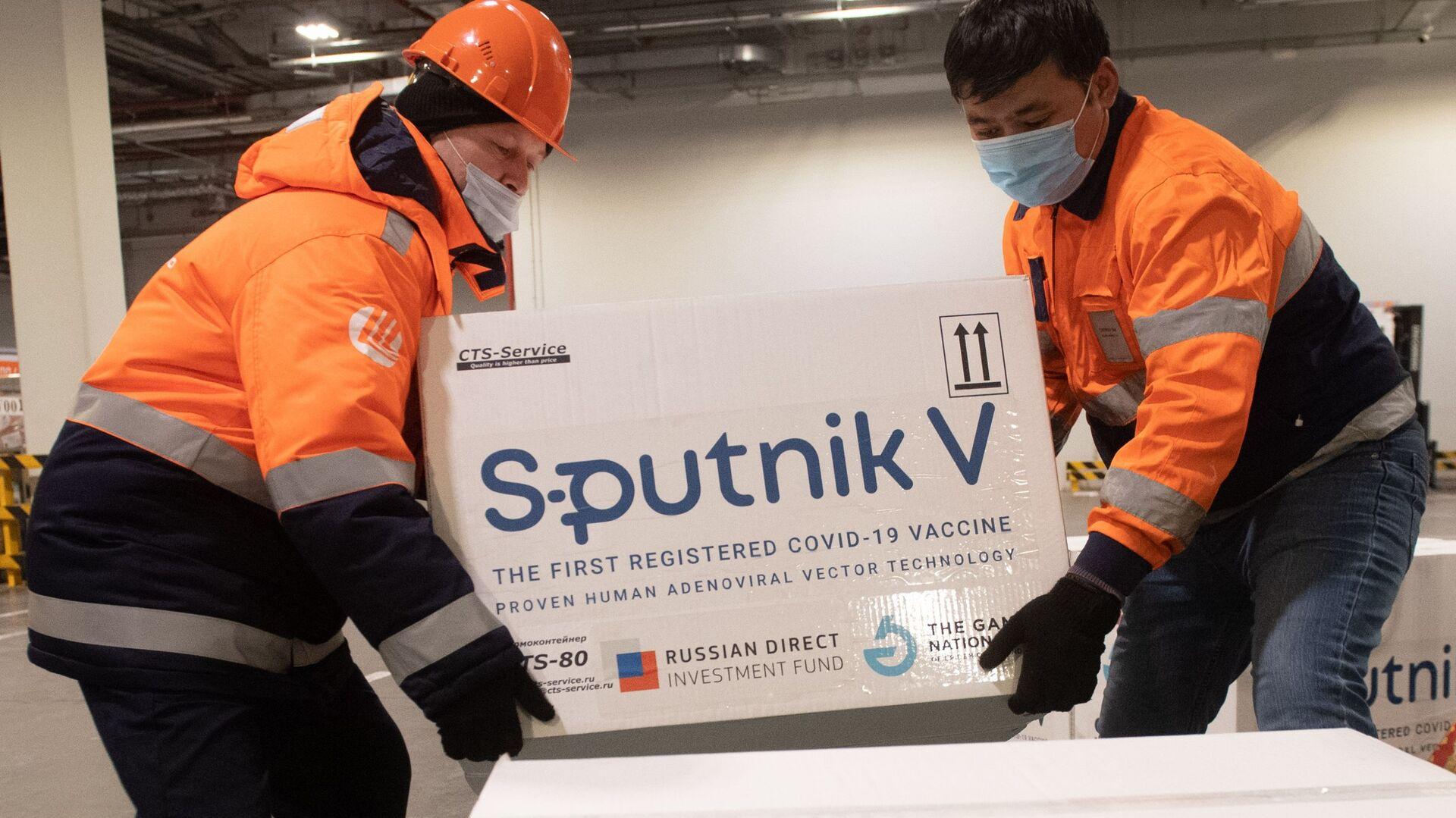 Груз с российской вакциной Sputnik V от коронавирусной инфекции covid-19 - Sputnik Узбекистан, 1920, 17.02.2021