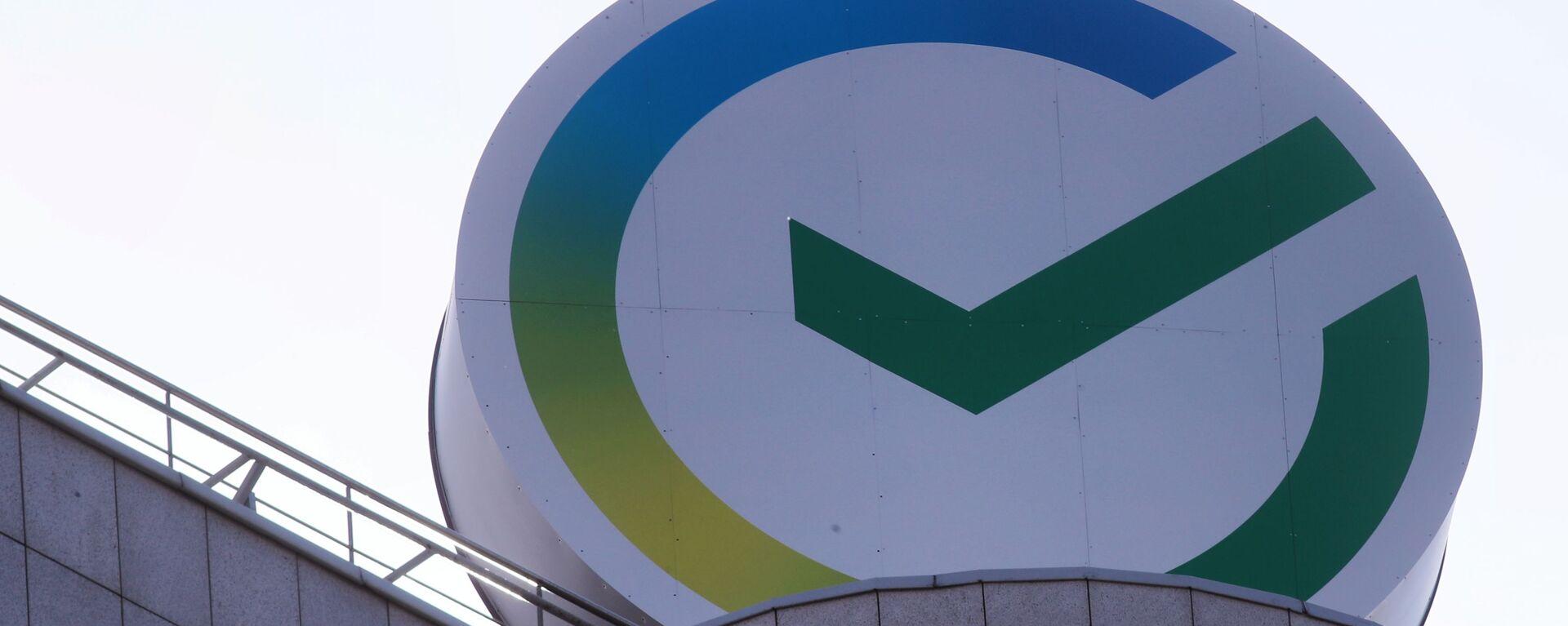 Logotip Sberbanka na zdanii tsentralnogo ofisa v Moskve - Sputnik Oʻzbekiston, 1920, 26.02.2021