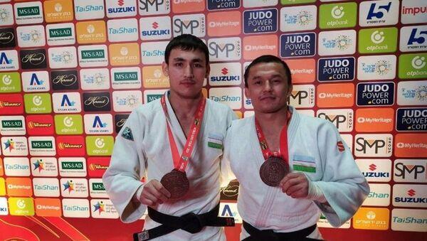 Бронзовые призеры чемпионата по дзюдо в Израиле - Sputnik Узбекистан