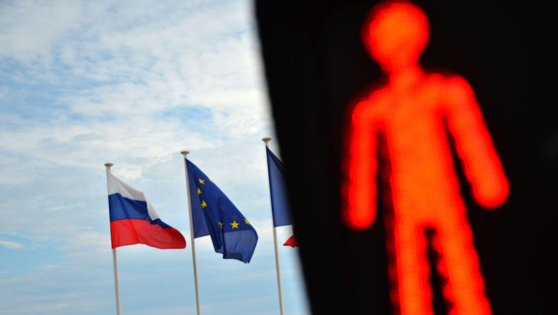 Флаги России, ЕС и Франции на набережной Ниццы - Sputnik Узбекистан, 1920, 19.02.2021