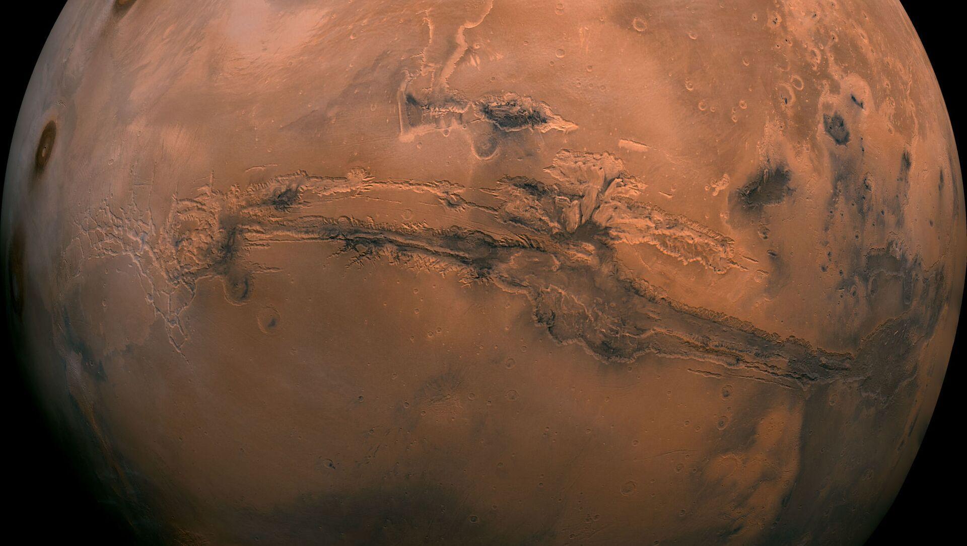 Мозаика полушария Марса в долинах Маринер - Sputnik Узбекистан, 1920, 21.02.2021