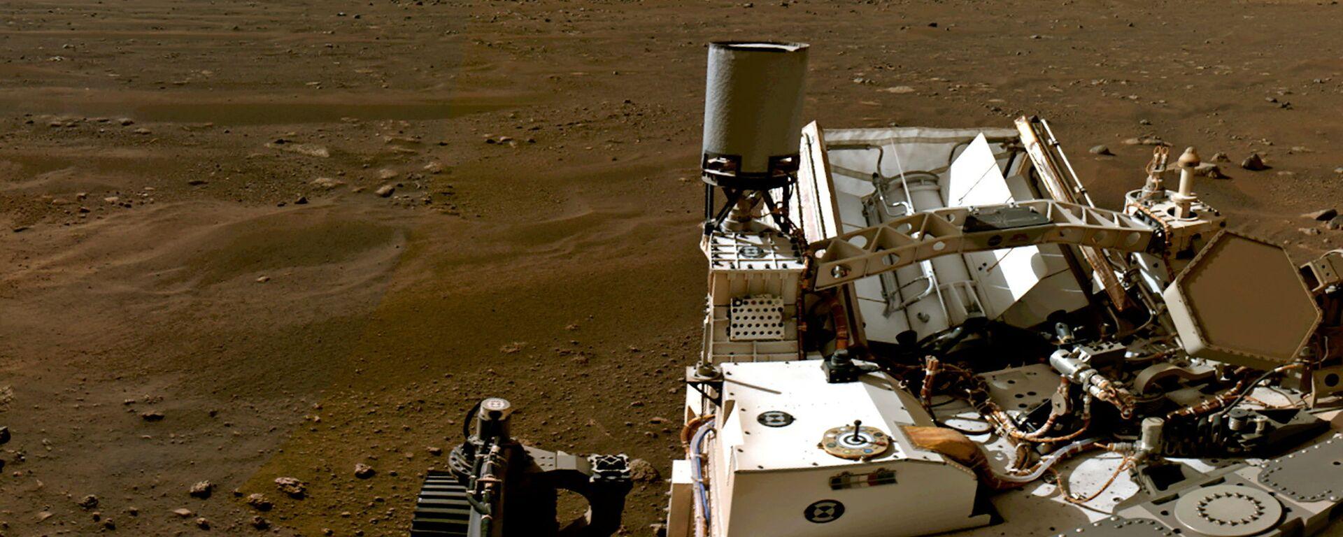 Марсианский пейзаж, снятый марсоходом Perseverance - Sputnik Узбекистан, 1920, 15.03.2021