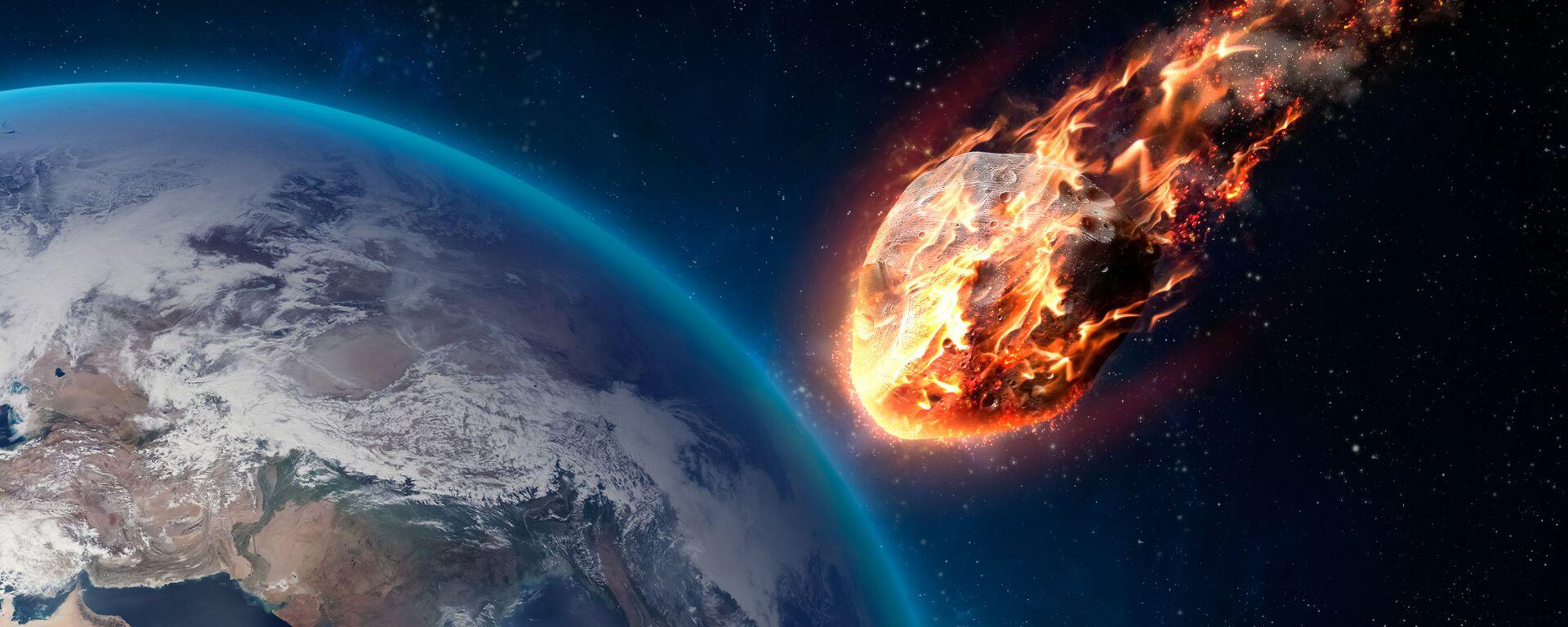 Горящий метеор во время входа в атмосферу Земли - Sputnik Ўзбекистон, 1920, 05.03.2021