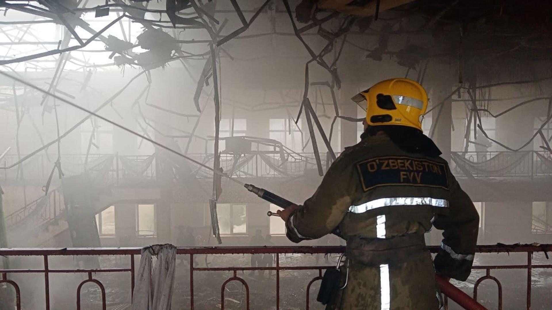 Спасатели МЧС ликвидировали пожар, вспыхнувший в одном из ресторанов Самаркандской области - Sputnik Ўзбекистон, 1920, 13.03.2021