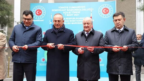 Церемония открытия генконсульства Турции в Самарканде - Sputnik Узбекистан