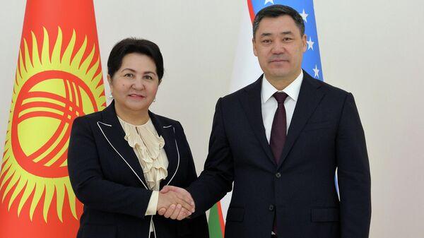 Президент  Кыргызстана Садыр Жапаров встретился с председателем Сената Олий Мажлиса Узбекистана Танзилой Нарбаевой  - Sputnik Узбекистан