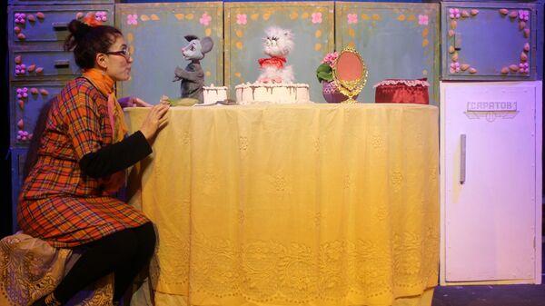 На репетиции кукольного спектакля Ай, да Мыцык! - Sputnik Узбекистан