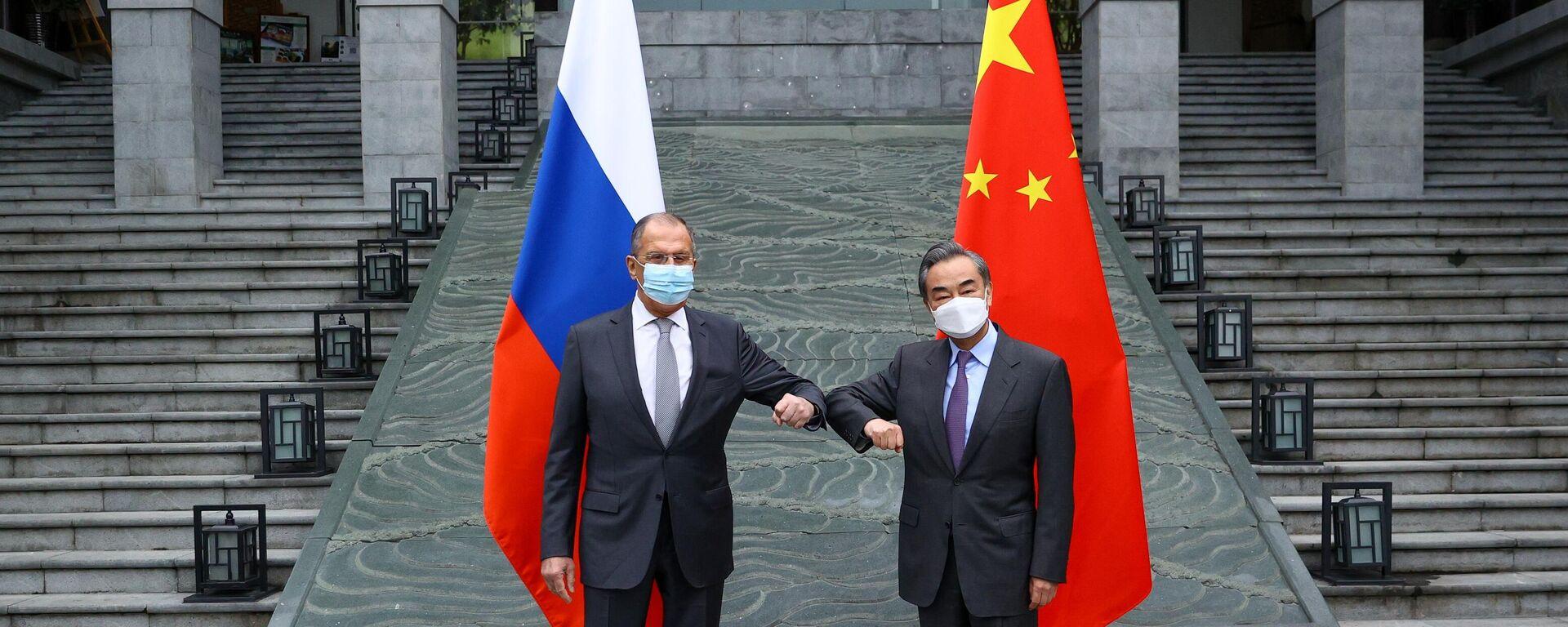 Визит главы МИД РФ С. Лаврова в Китай - Sputnik Узбекистан, 1920, 23.03.2021
