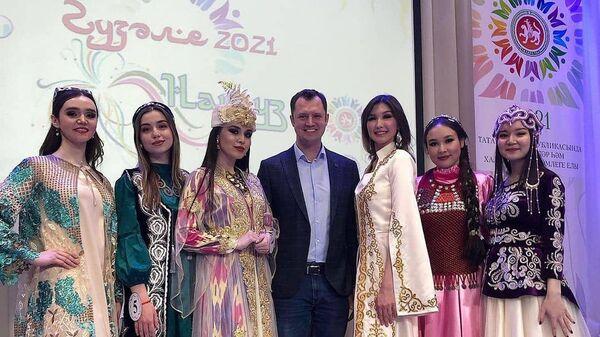 Кыргызстанка стала призером конкурса Красавица Нооруза — 2021 в Казани - Sputnik Узбекистан
