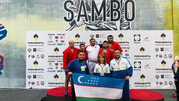 Узбекские спортсмены на Кубке мира по самбо в Москве - Sputnik Узбекистан