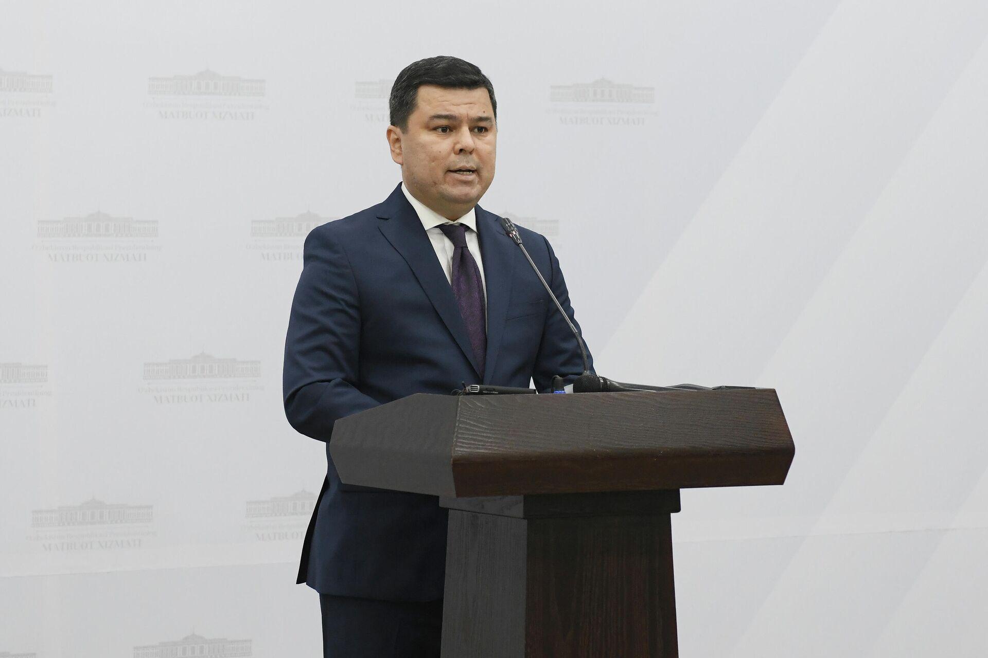 Пресс-секретарь президента Узбекистана Шерзод Асадов - Sputnik Узбекистан, 1920, 29.03.2021