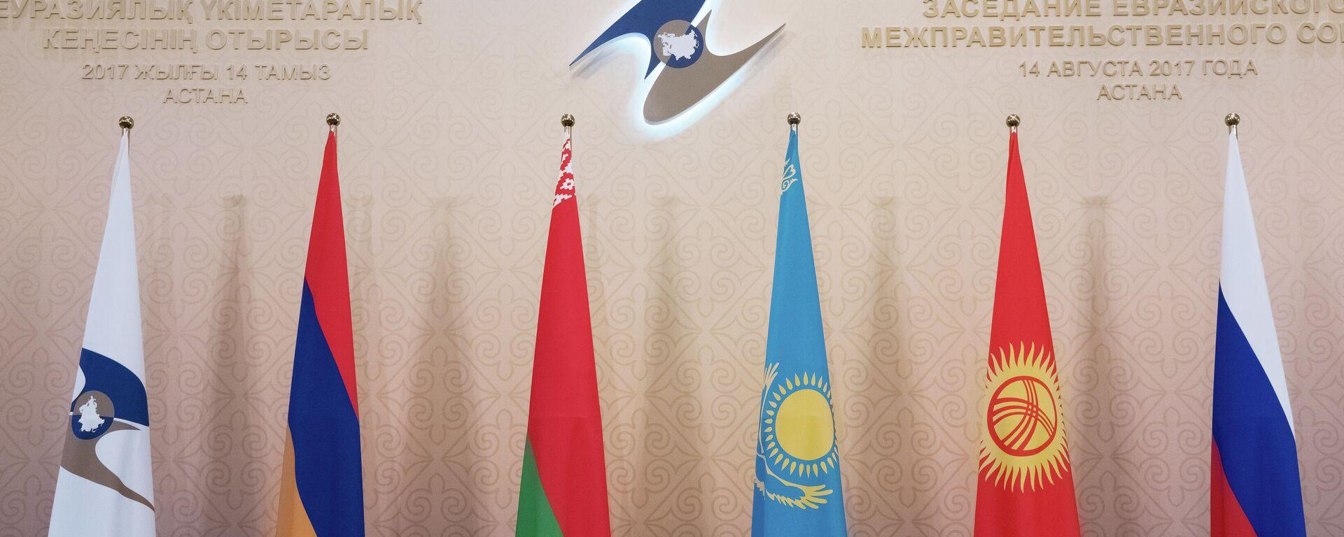 Флаги ЕЭАС - Sputnik Ўзбекистон, 1920, 01.09.2021