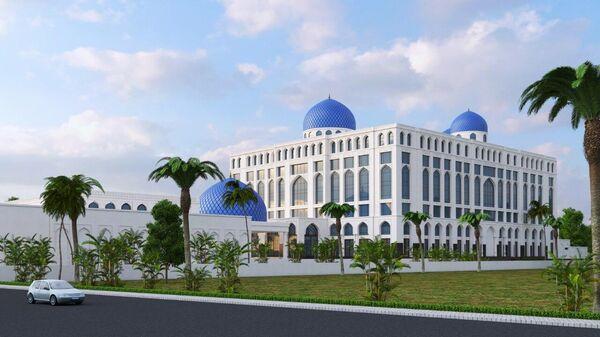 Макет гостиницы под брендом Hyatt Regency - Sputnik Узбекистан