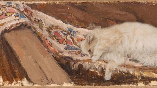 Музейная кошка Алиса на полотнах Василия Сурикова - Sputnik Узбекистан