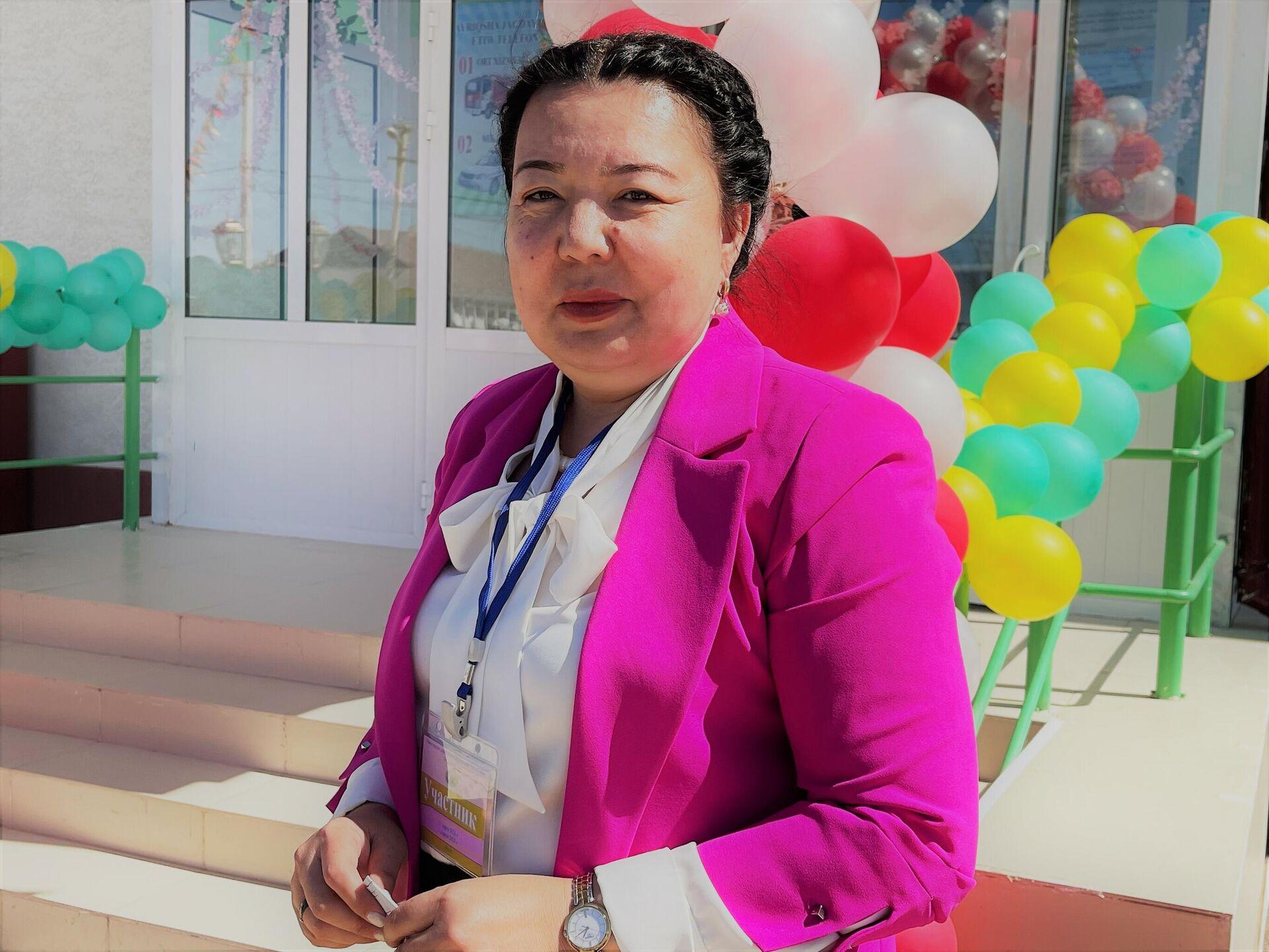 Jumagul Usnatdinova, ministr doshkolnogo obrazovaniya Respubliki Karakalpakstan - Sputnik Oʻzbekiston, 1920, 03.04.2021