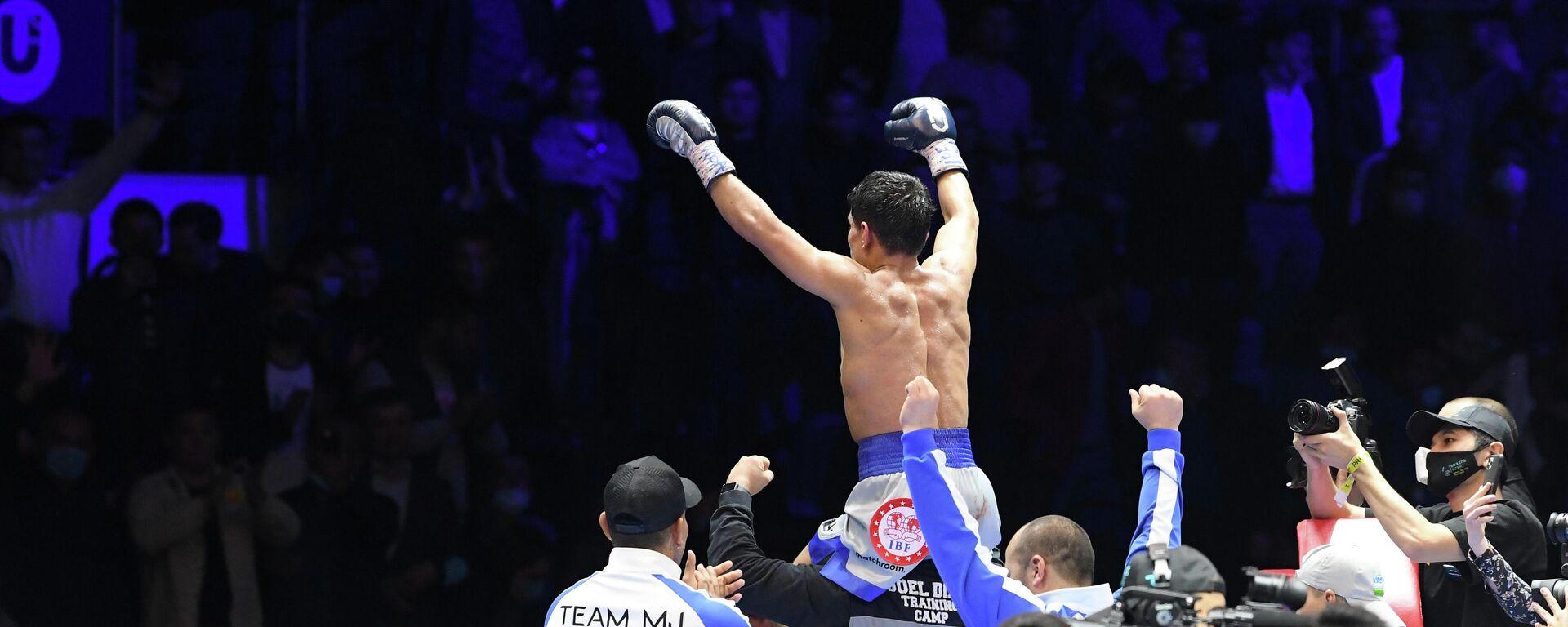 Чемпион мира по боксу по версии WBA Муроджон Ахмадалиев - Sputnik Узбекистан, 1920, 04.04.2021