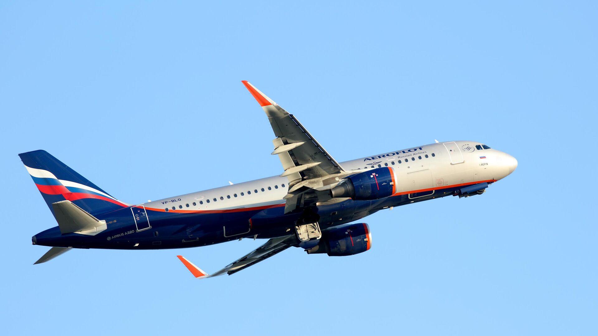 Самолет Airbus A320 авиакомпании Аэрофлот - Sputnik Ўзбекистон, 1920, 23.09.2021