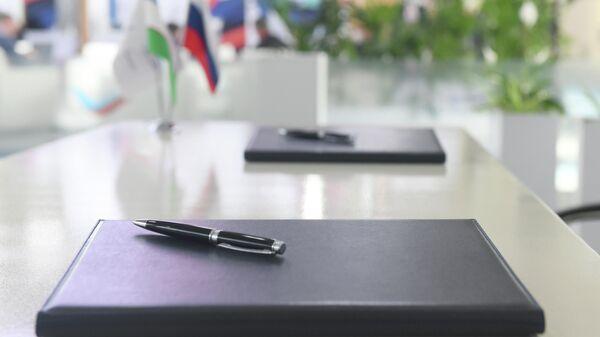 Podpisaniye dokumentov - Sputnik Oʻzbekiston