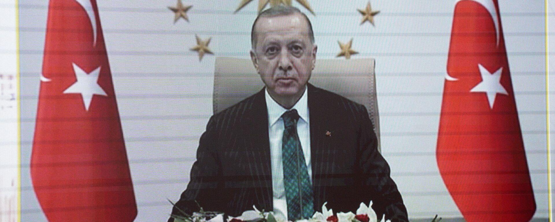 Президент Турции Р. Т. Эрдоган - Sputnik Узбекистан, 1920, 07.04.2021