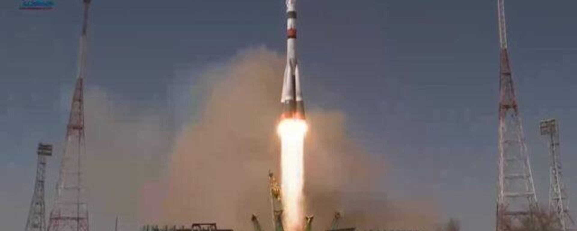 Запуск космического корабля Ю. А. Гагарин с космодрома Байконур - Sputnik Ўзбекистон, 1920, 09.04.2021