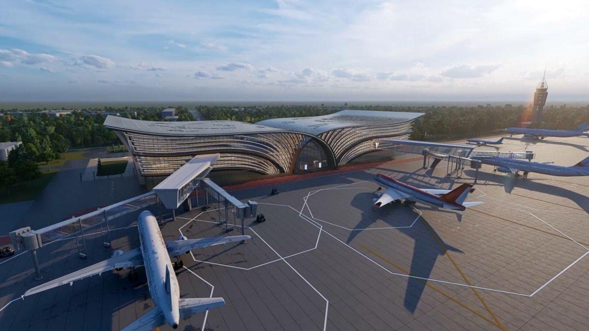 Проект по модернизации и эксплуатации международного аэропорта Самарканда - Sputnik Узбекистан, 1920, 21.09.2021