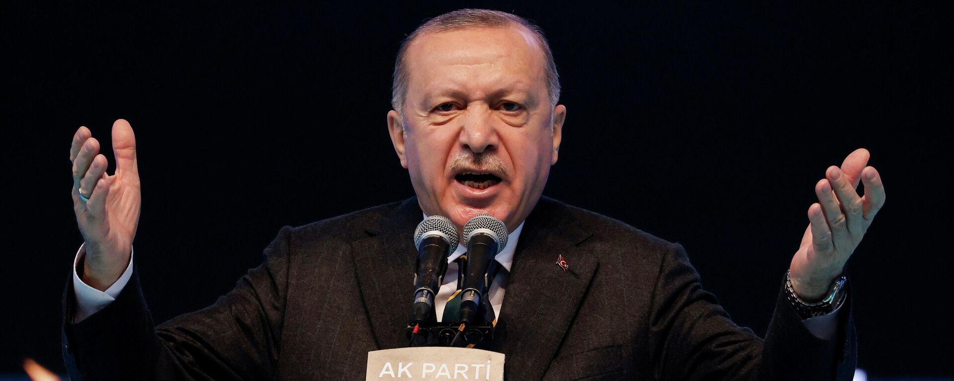 Президент Турции Реджеп Тайип Эрдоган - Sputnik Узбекистан, 1920, 13.04.2021