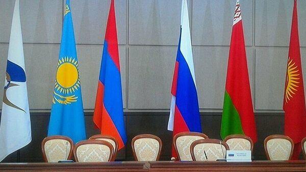 Флаги стран ЕАЭС. Архивное фото - Sputnik Узбекистан