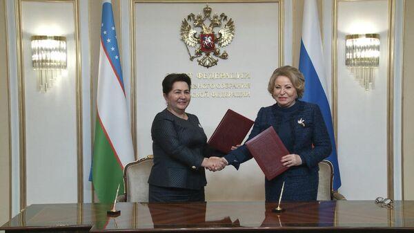 Визит Т. Нарбаевой в РФ - Sputnik Узбекистан
