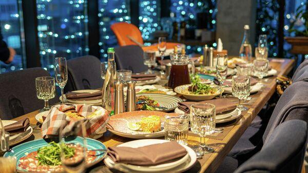 Ресторан, иллюстративное фото - Sputnik Узбекистан