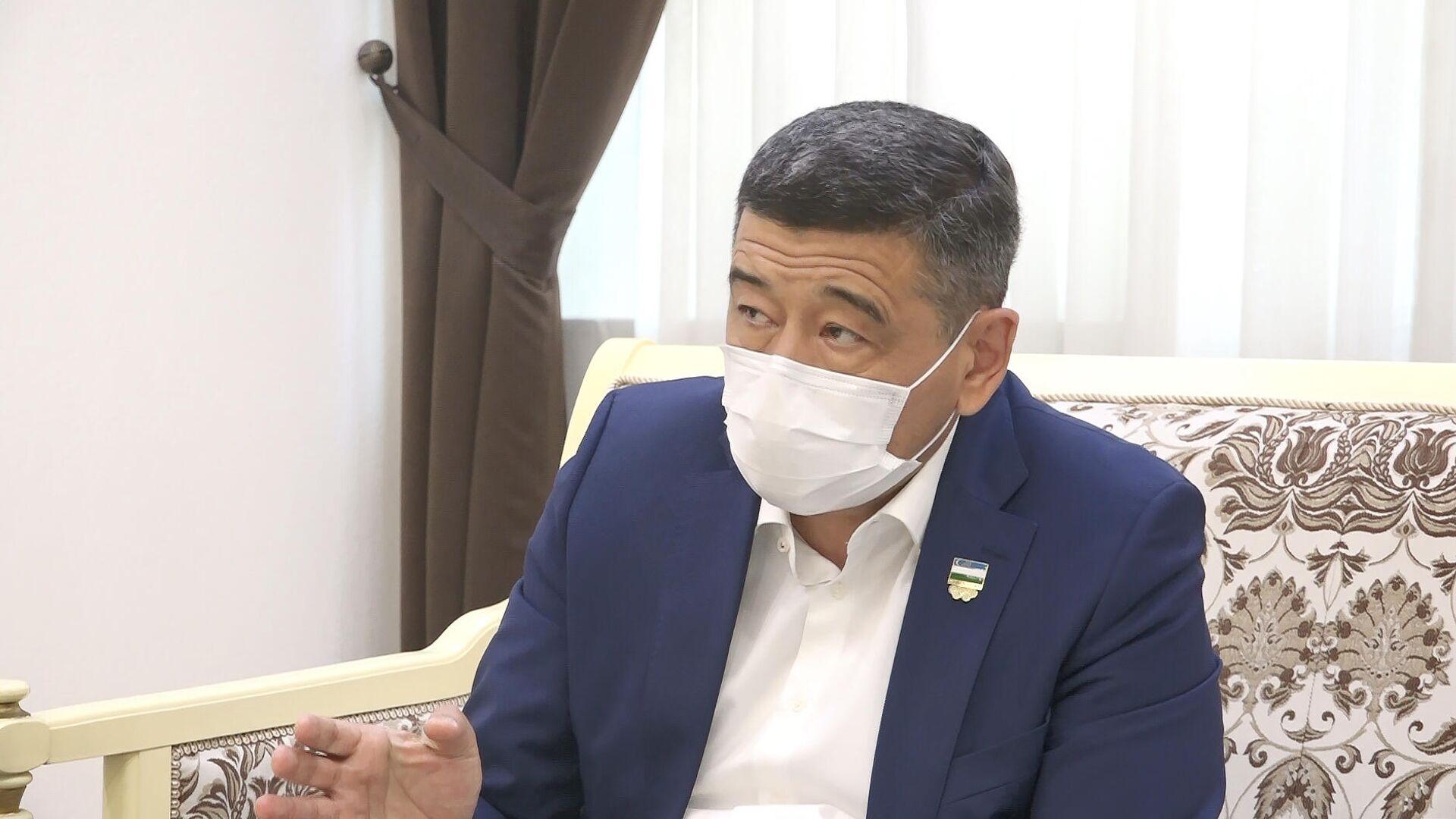 Председатель Национального олимпийского комитета (НОК) Узбекистана Рустам Шаабдурахманов - Sputnik Узбекистан, 1920, 28.04.2021