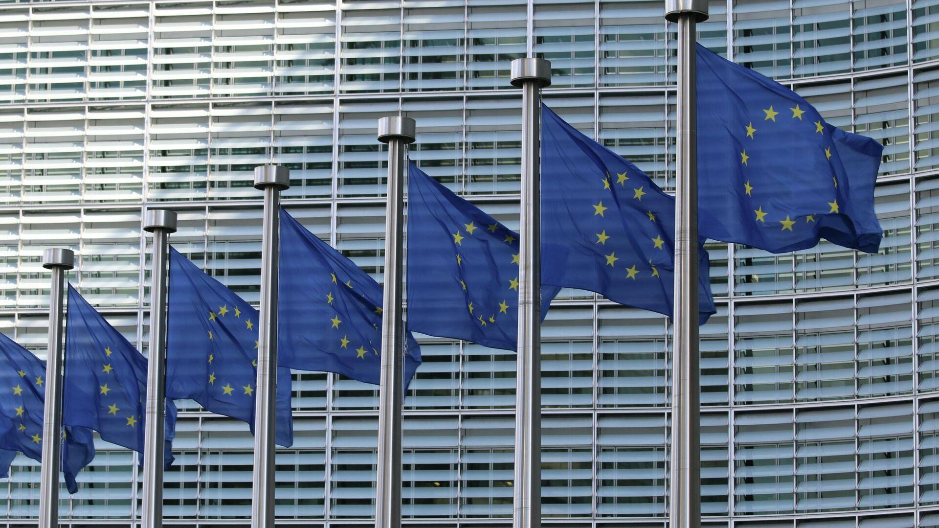 Флаги ЕС - Sputnik Узбекистан, 1920, 04.05.2021
