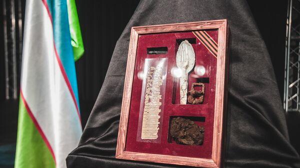 Передача останков красноармейца из Самаркандской области Бобирахима Абдуллаева родным - Sputnik Узбекистан