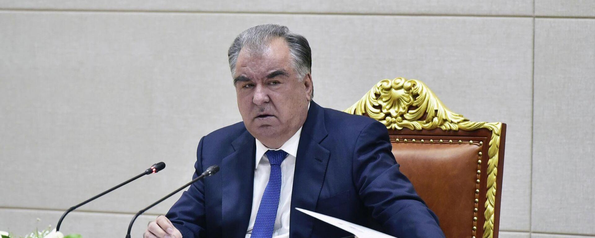 Prezident Tadjikistana Emomali Raxmon - Sputnik Oʻzbekiston, 1920, 05.07.2021