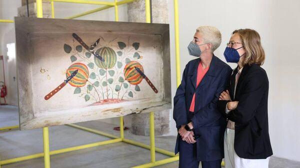Фрагмент национального павильона Узбекистана Махалля: урбанистическая и провинциальная жизнь на 17-й Венецианской архитектурной биеннале - Sputnik Узбекистан