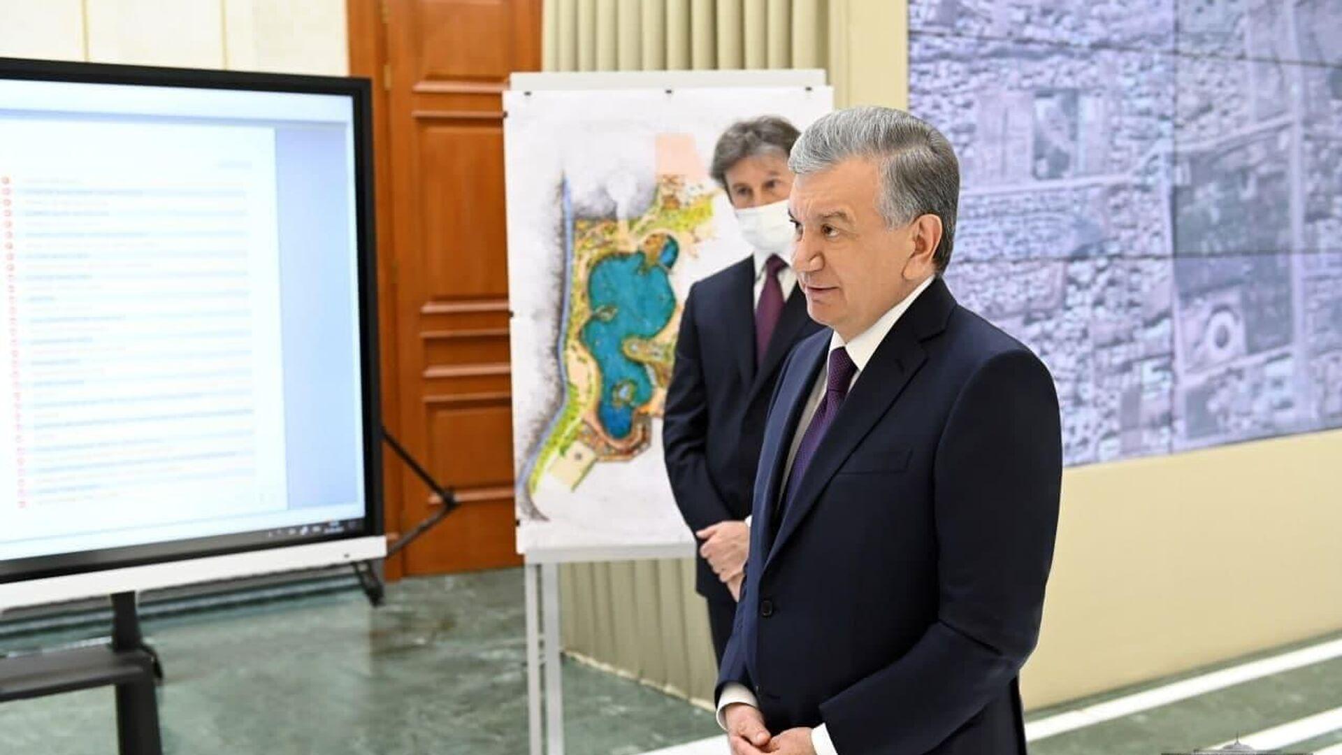 Shavkat Mirziyoyev oznakomilsya s planom rekonstruktsii mazvoleya Alisher Navoiy v Afganistane - Sputnik Oʻzbekiston, 1920, 05.07.2021