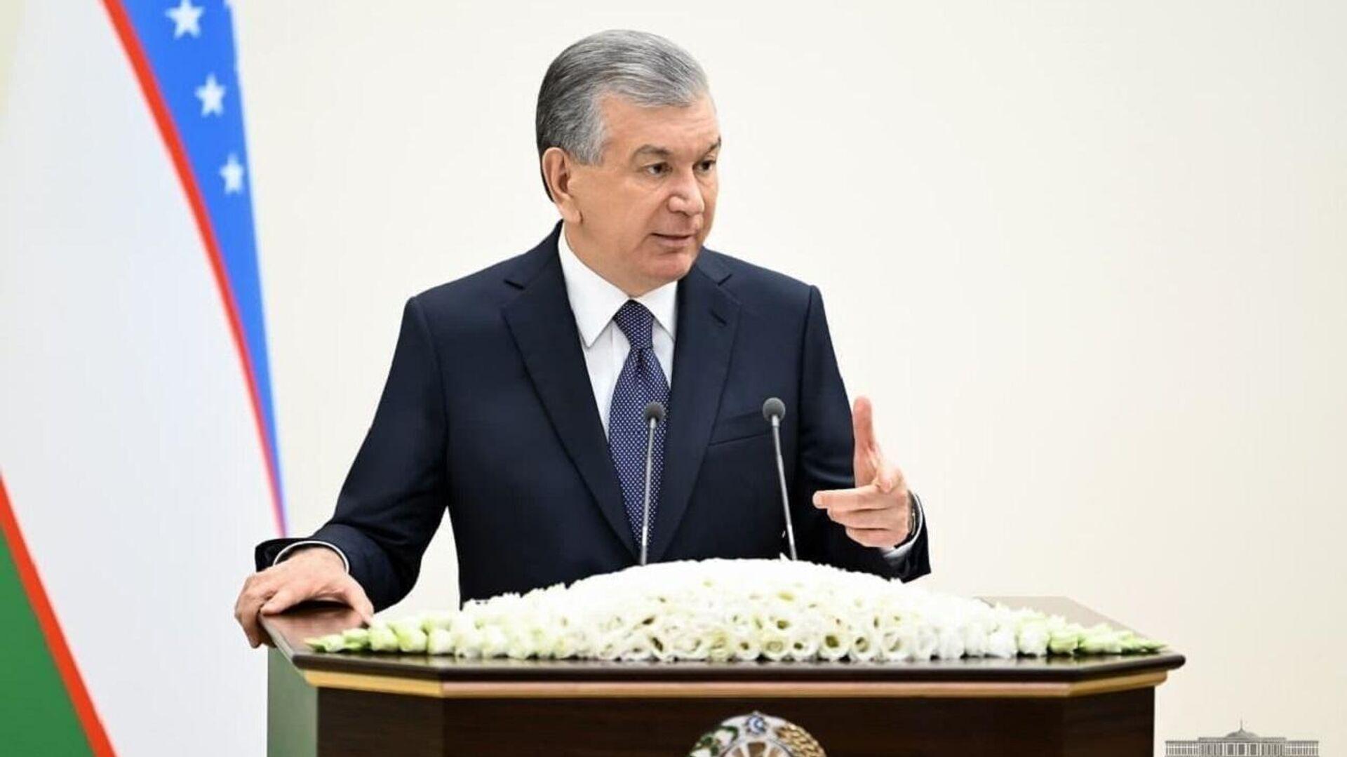 Президент Узбекистана Шавкат Мирзиёев - Sputnik Узбекистан, 1920, 18.06.2021