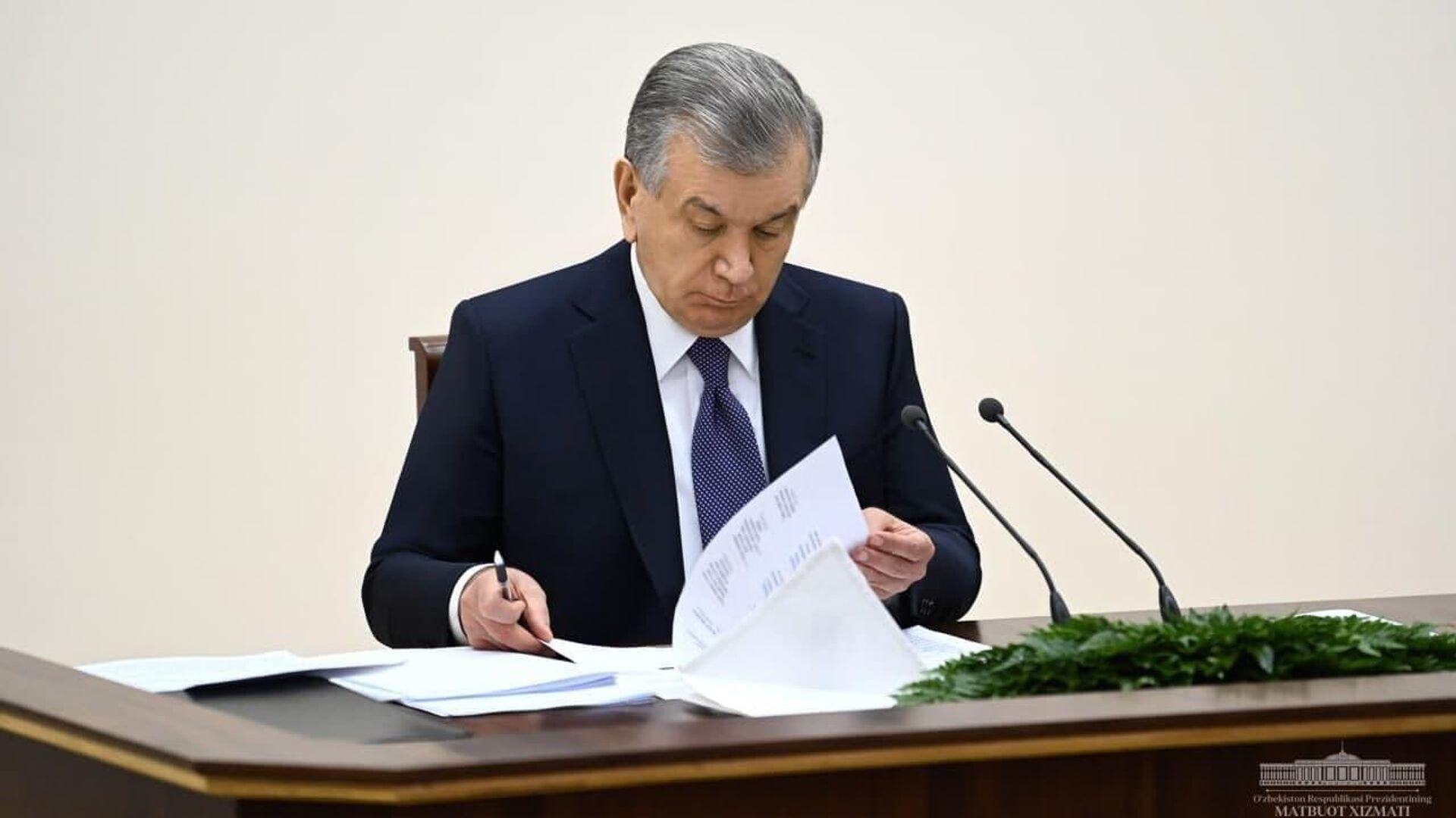 Президент Узбекистана Шавкат Мирзиёев - Sputnik Ўзбекистон, 1920, 14.06.2021