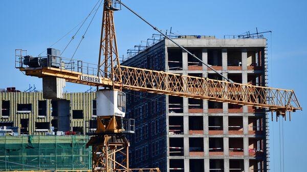 Строительство новых домов в Москве - Sputnik Ўзбекистон