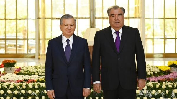 Церемония встречи президента Узбекистана Шавката Мирзиёева в аэропорту Душанбе - Sputnik Узбекистан