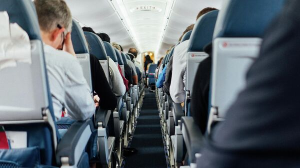 Пассажиры самолета, иллюстративное фото - Sputnik Узбекистан