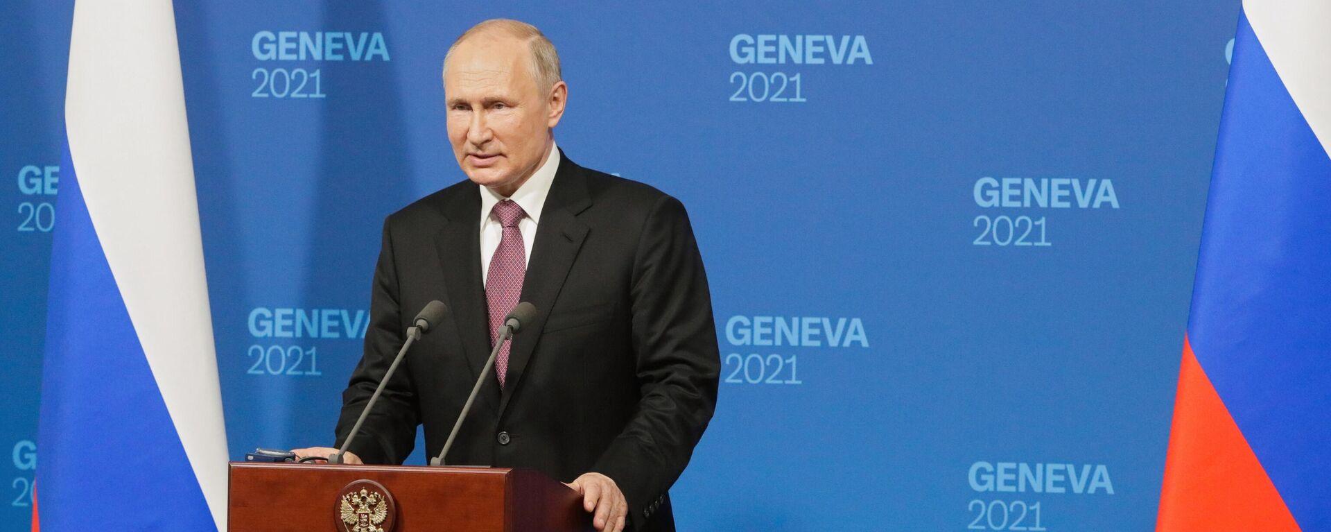 Vstrecha prezidentov Rossii i SSHA V. Putina i Dj. Baydena v Jeneve - Sputnik Oʻzbekiston, 1920, 16.06.2021